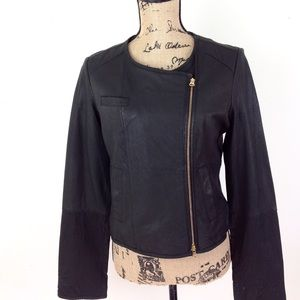 Anthro Brand Idra Leather Moto Jacket S